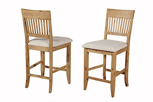 Alpine Furniture Aspen Counter Height Pub Chair (Set of 2)