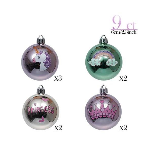 Valery Madelyn Palle di Natale 9 Pezzi 6 cm Palline di Natale, Decorazioni Natalizie Infrangibili Ricoperte di Zucchero Rosa e Oro per la Decorazione Dell'Albero di Natale 3 spesavip
