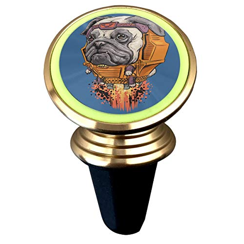 (Happy Index Superhero Dogs 360° Rotation Air Vent Magnetic Car Mount Cell Phone Holder Compatible for iPhone Xs/Xs Max/XR/X / 8/7 / Plus Samsung Galaxy S9 / S8 and More)