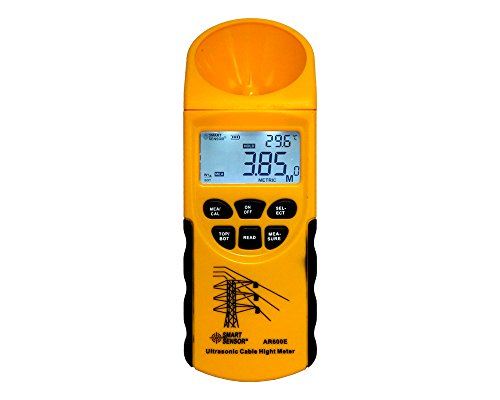 Cable Height Meter 6 Cables Measurement LCD display Measuring Range(Height 3-23m,Plane 3-15m) AR600E