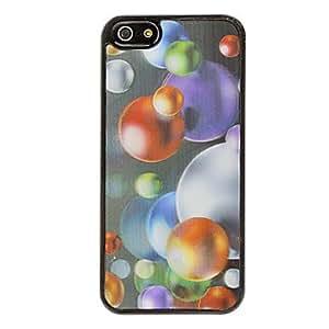 Varios colores 3d redondeados granos estuche rígido imagen de 5/5s iphone