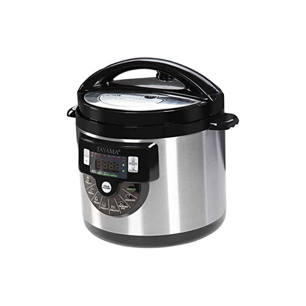 Tayama TMC-60XL 6 Quart 8 in 1 Multi Function Pressure Cooker, 6 Qt, Black 2