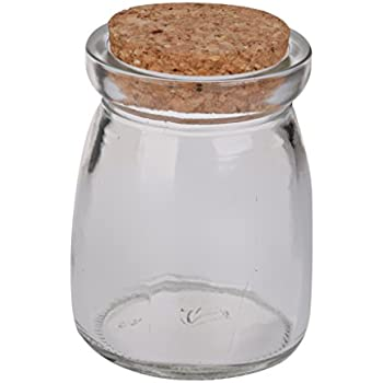 Amazoncom Mini Round Glass Storage Jars Bottle Terrarium Container