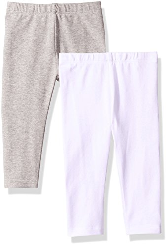 The Children's Place Baby Girls' 2 Pack Basic Leggings,
