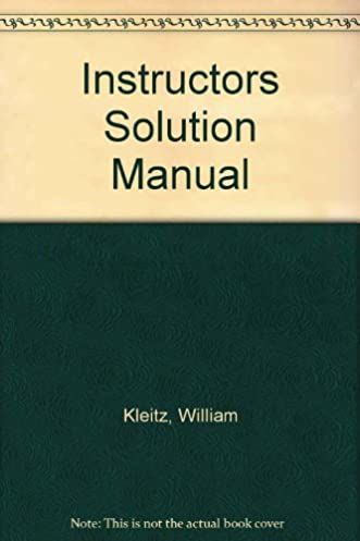 instructors solution manual william kleitz 9780133977462 amazon rh amazon com Creating Electronic Policy Manual Creating Electronic Policy Manual