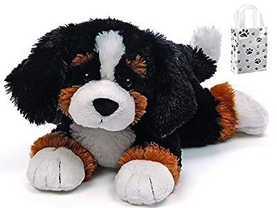 """GUND Randle Bernese Mountain Dog Stuffed Animal Plush, 13"""" & Gift Bag Bundle Set"""