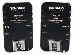 Yongnuo YN-622N-USA i-TTL 2.4-GHz Wireless Flash Trigger Transceiver Pair for Nikon DSLRs, US Warranty (Black)