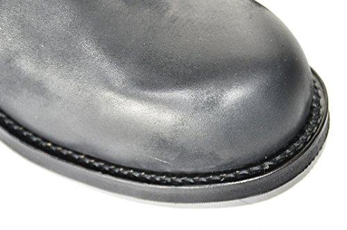 Tony Mora Biker Boots Modell 1264 Nubuk Brash Negro - Biker Boots de cuero unisex negro - negro