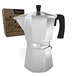 6 Cup Moka Pot (Mocha Pot) - Stovetop Espresso Maker - The Perfect Stove Top Italian Coffee Maker - Sisitano