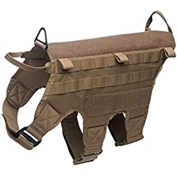 "K9 Tactical Dog Harness by Industrial Puppy – Fits Dogs with 28.5-33"" Chest Girth – Lightweight, Durable, and Premium Quality – Compatible with Molle and MALICE Accessories"
