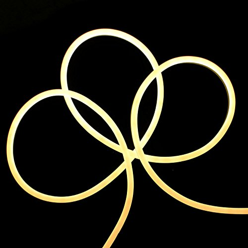 - 18' LED Commercial Grade Warm White Neon Style Flexible Christmas Rope Lights