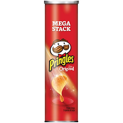 Pringles Potato Crisps Chips, Original Flavored, Mega Stack, 6.8 oz Can - Pringles Original Potato Chips