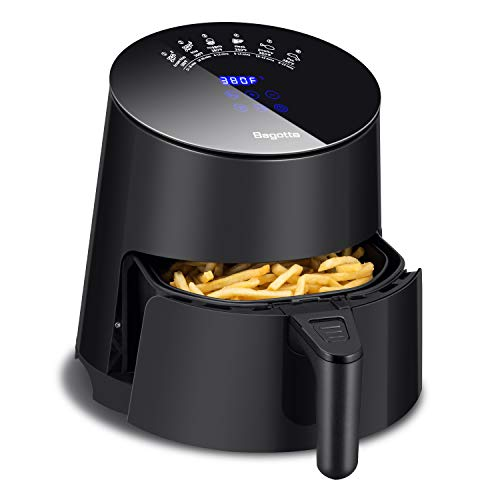 Air Fryer, Bagotte Programmable Hot Airfryer Oven & Oilless Cooker for Roasting, LED Digital Touchscreen, Nonstick Basket, Dishwasher Safe, Family Size