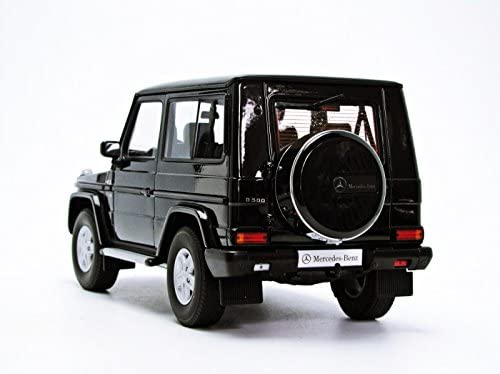 1998 MERCEDES G500 G CLASS SWB BLACK 1//18 DIECAST CAR MODEL BY AUTOART 76111