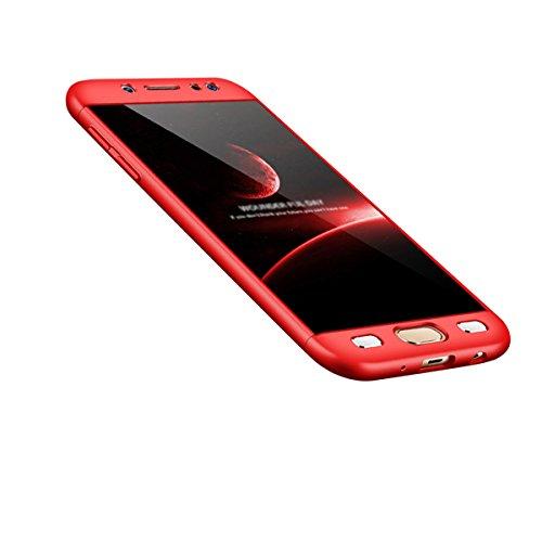 Samsung Galaxy J7 Pro 2017 PC Mirror Caso, Vandot de 360 Grados Alrededor de Todo el Cuerpo Completo de Protección Ultra Thin Slim Fit Cubierta de la Caja de Mate PC Absorción de impactos Shockproof p QBHD PC 01