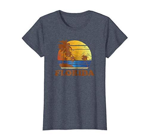 Womens Vintage Style Florida T Shirts Family Vacation Shirt Medium Heather Blue