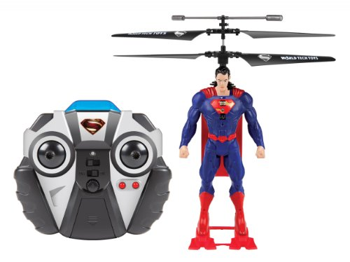 World Tech Toys DC Superman 2CH IR RC Helicopter (Flying Superman)