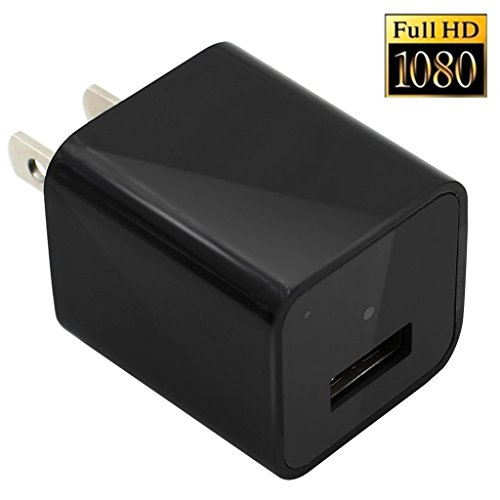 Mengshen 1080P HD Mini AC USB US Wall Charger Adapter Plug Hidden Spy Camera/ Nanny Spy Camera Adapter With 8GB memory Support Cycle/ Loop Recording MS-WH16Mei (8 Gb Memory Support)