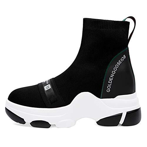 9efddc852013d Jual Zarbrina High Top Platform Sneakers for Womens Sock Shoes Round ...