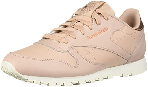 Reebok Unisex Classic Leather Sneaker, Rum-Bare Beige/Chalk, 5 M US Big Kid - Dark Beige Footwear