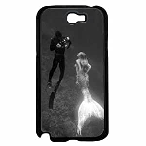Mermaid and Scuba Diver- TPU RUBBER SILICONE Phone Case Back Cover Samsung Galaxy Note II 2 N7100