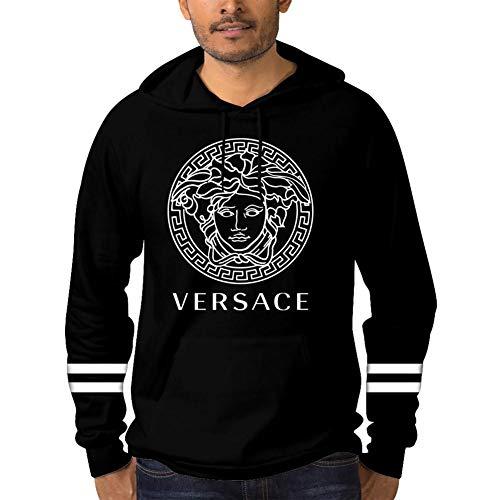 7109b730387d3 GjEb Mens Fashion Versace Medusa Head Logo Novelty Hoodies with Pocket