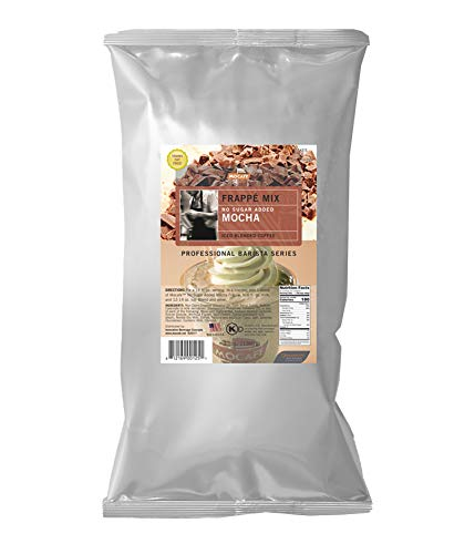MOCAFE Frappe Mocha No Sugar Added Ice Blended Coffee, 3-Pound Bag Instant Frappe Mix, Coffee House Style Blended Drink Used in Coffee Shops