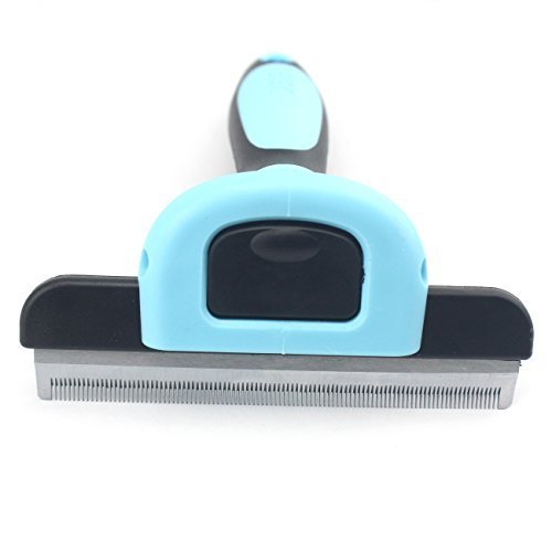 (Pet Grooming Large Deshedding Tool for Small,Medium,Large Dogs/Cats, with 4-inch Edge for Short Hair and Long Hair by Possiave)