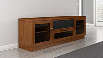 Furnitech 70 Fully Assembled Audio Video Console in a Light Cherry Finish. Model FT72CCLC