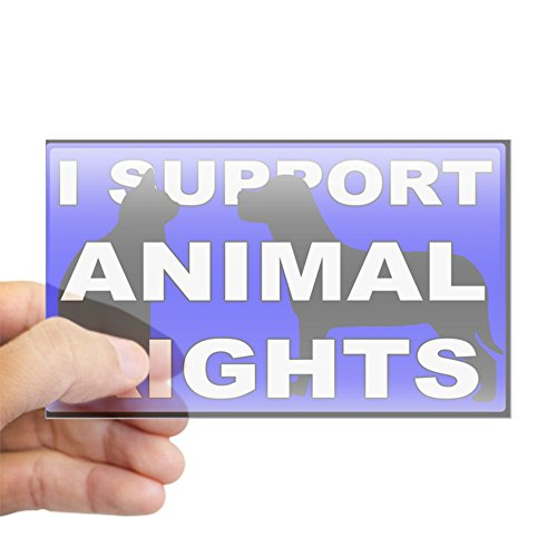 CafePress I Support Animal Rights Rectangle Sticker Rectangle Bumper Sticker Car Decal