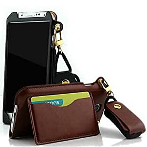 DUR Protective PU Leather Lanyard Wallet Case with Stand for S4 i9500(Assorted Color)