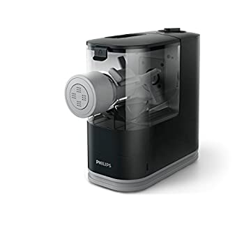 Image of Home and Kitchen Philips Compact Pasta and Noodle Maker with 3 Interchangeable Pasta Shape Plates - Black - HR2371/05
