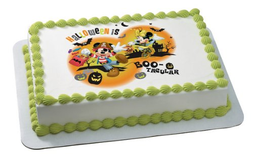 Mickey Mouse & Friends Halloween Boo-Tacular Edible Cake Topper Decoration]()