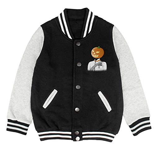 HKSDAS Pumpkin Sir Halloween Kids Baseball Jacket School Jackets Top 2-10 Year -