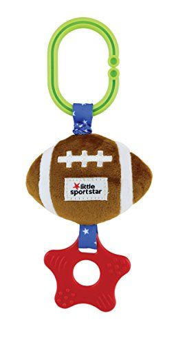 Little Sport Star, Zippee with Crinkle & Teether Football (Football Rattle)