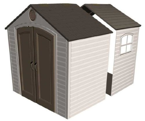 Lifetime 6424 30 Inch Shed Extension Kit with Window, Fit...