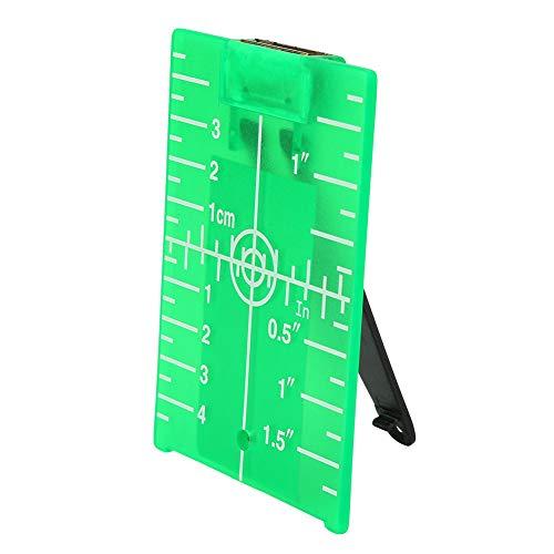 Laser Target Card - Magnetic Floor Target Laser Target Card Plate with Stand for Laser Level Meter (#2)