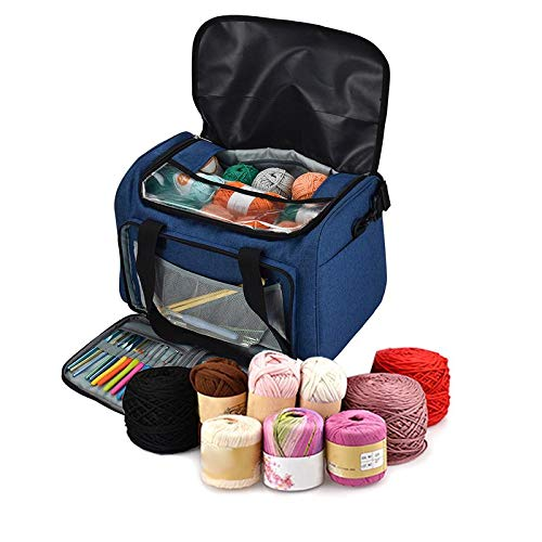 Best Quality - DIY Apparel & Needlework Storage - Sturdy Light Bag Yarn Storage Bag Household Portable Tote Storage Case for Crocheting Hook Knitting Needles Sewing Accessories - by jimmy liam - 1 PCs