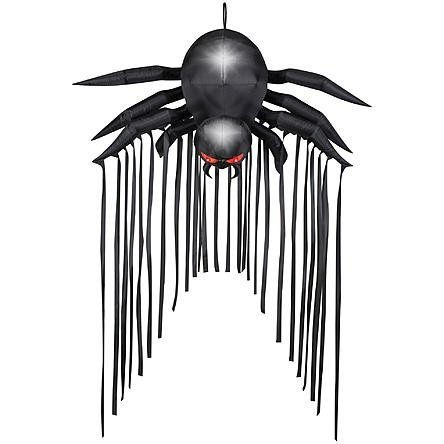 Inflatable Haunted House Lighted Black Spider Door Archway