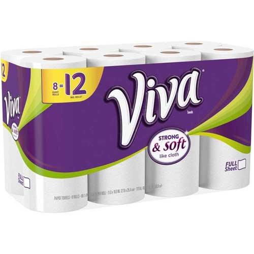 Viva Giant Paper Towel Roll, 528 Count per Pack - 4 per case.