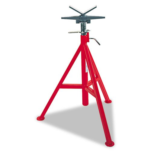 Ridgid 56667 RJ-98 Roller Head Low Pipe Stand 23-Inch-41-Inch Height Adjustment