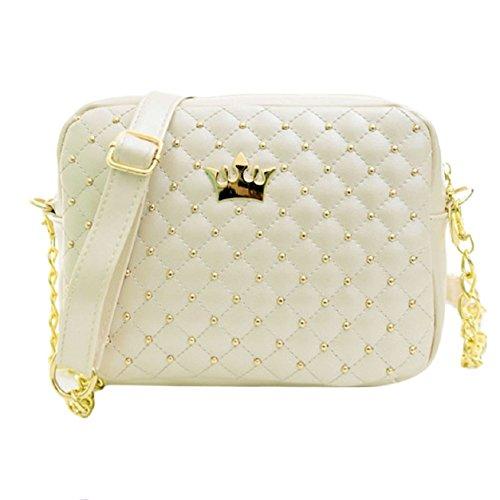 Messenger Bags New Bag 2015 Malloom® Women Beige Crossbody Chain Leather Rivet Fashion Shoulder xSIgBwq