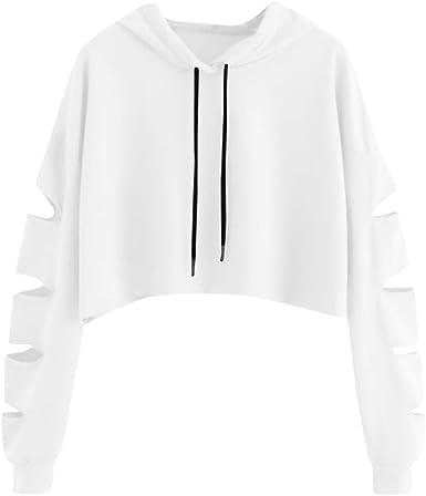 ZEZKT Sweats à Capuche Femme, Hoodie Sport Sweat Shirts
