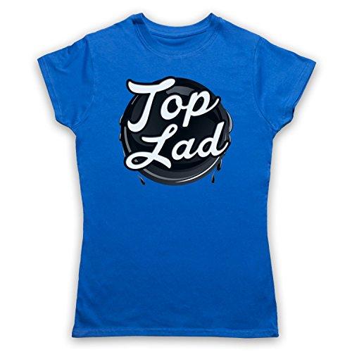 My Icon Art & Clothing Top Lad Slogan Damen T-Shirt Blau a9Gy2HoV