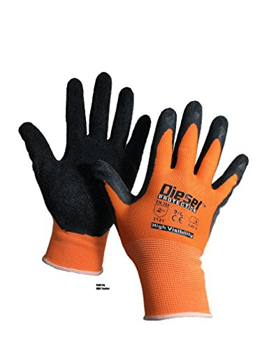 Size: Large/ 6 Pair Diesel - Excellent Grip Orange Safety Gloves General Purpose by Diesel (Image #1)