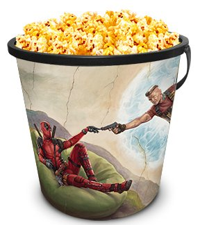 Marvel Comics: Deadpool 2 Movie Theater Exclusive 130 oz Plastic Popcorn Tub