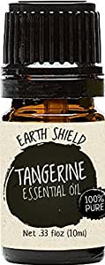 Earth Shield Tangerine Essential Oil is 100% Pure and Therapeutic Grade from Premium Quality Citrus - 10ml. Comes with a spare FREE 10ml roller bottle.