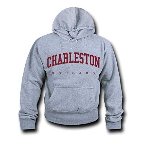 - W Republic NCAA Charleston Cougars Unisex 503Game Day Hoodie, Heather Grey, X-Large