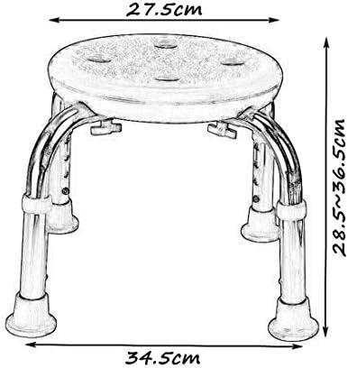 Haushalt rutschfester Duschhocker Anti-Rutsch-Hocker for ältere Menschen Bad / Dusche Hocker rutschfeste Duschhocker for schwangere Frauen Einstellbare 4 Höhen-pink-175kg Duschhocker Kreative multifun
