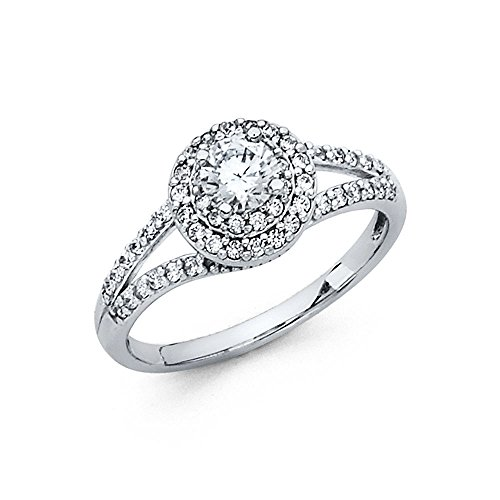 Gold Round Cut Solitaire - 8